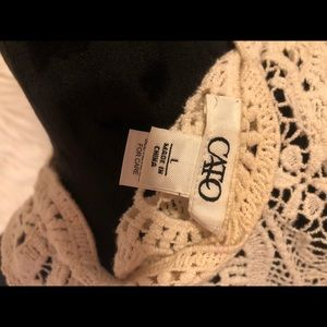 Tops - CROCHETED/LACE COVER UP
